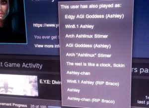 some of Ashley's gamer names